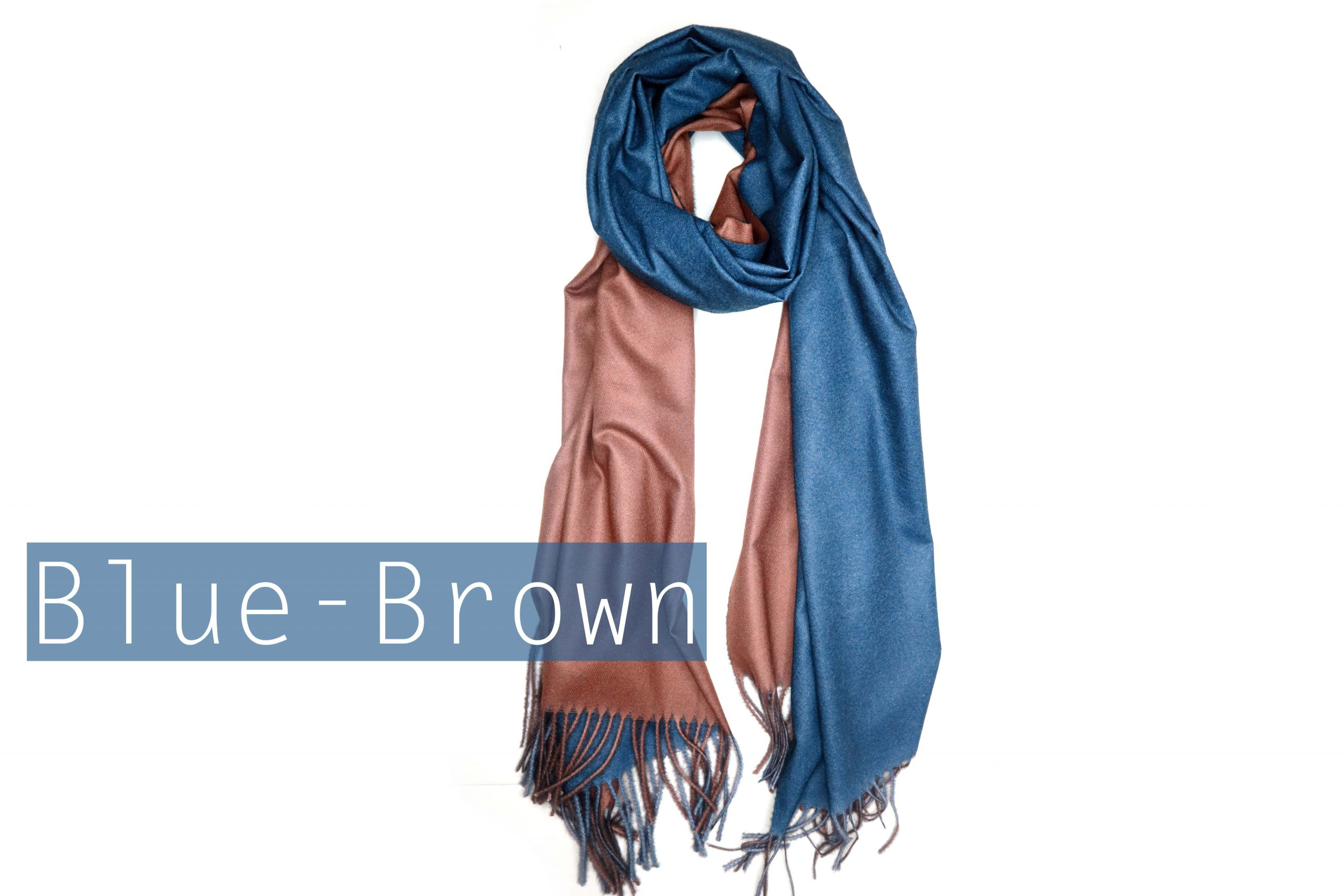 Premium Cashmere Scarf Colored On Both Sides R O M M A N A